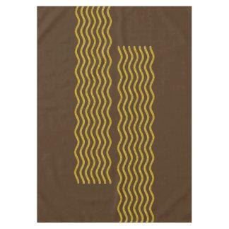 かわいらしい波の金ゴールド + あなたのbackgr。、文字及びアイディア テーブルクロス