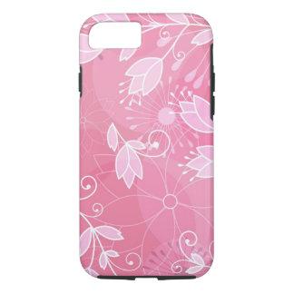 かわいらしい淡いピンクの花のデザイン iPhone 8/7ケース