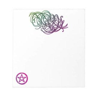 かわいらしい渦巻および星形五角形40のページのメモ帳 ノートパッド