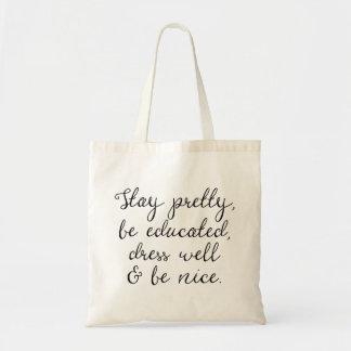 かわいらしい滞在は及びニースの の書道の原稿のバッグです トートバッグ