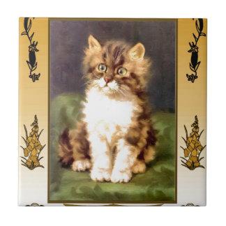 かわいらしい猫 タイル