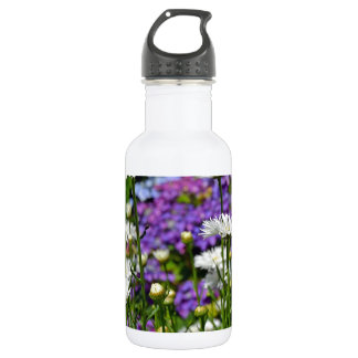 かわいらしい白いデイジーの庭 ウォーターボトル