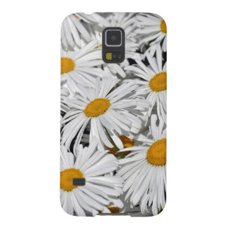 かわいらしい白いデイジーの花のプリント GALAXY S5 ケース