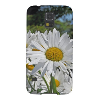 かわいらしい白いデイジーの花 GALAXY S5 ケース