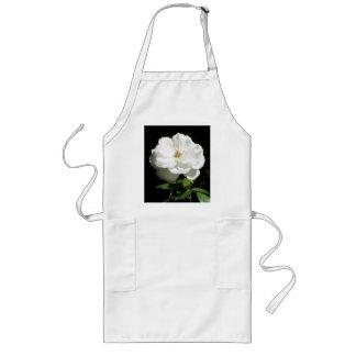 かわいらしい白いバラ ロングエプロン