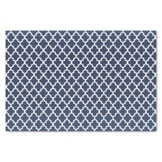 かわいらしい石板の青およびクローバーパターン 薄葉紙