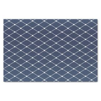 かわいらしい石板の青およびダイヤモンドパターン 薄葉紙
