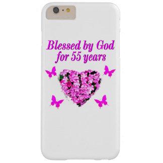 かわいらしい第55誕生日の花柄 BARELY THERE iPhone 6 PLUS ケース