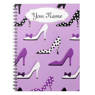 かわいらしい紫色のかかと ノートブック