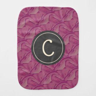 かわいらしい紫色のピンクのモノグラム バープクロス