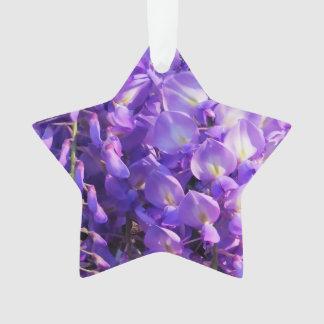 かわいらしい紫色の藤の花 オーナメント