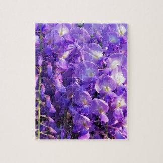 かわいらしい紫色の藤の花 ジグソーパズル
