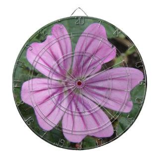 かわいらしい紫色の野生の花の投げ矢板 ダーツボード