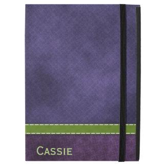 """かわいらしい紫色のiPadのプロフォリオの場合 iPad Pro 12.9"""" ケース"""