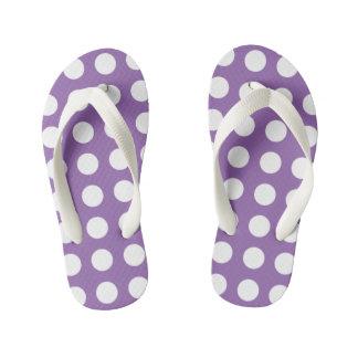 かわいらしい紫色はビーチサンダルの水玉模様をからかいます キッズビーチサンダル
