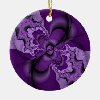 かわいらしい紫色 セラミックオーナメント