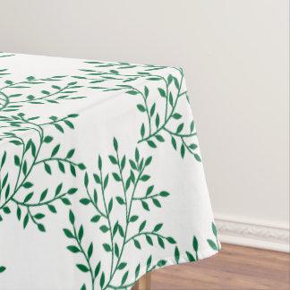 かわいらしい緑の葉の枝写実的な自然パターン テーブルクロス