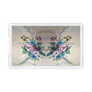 かわいらしい花のアクリルの皿 アクリルトレー