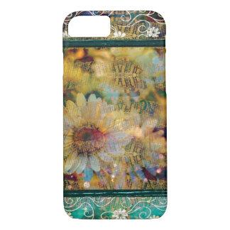 かわいらしい花のデイジーのボヘミア人パターン iPhone 8/7ケース