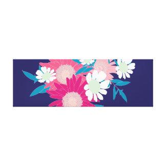 かわいらしい花のパターン(の模様が)ある方向キャンバスのプリント キャンバスプリント