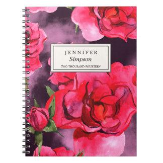 かわいらしい花の水彩画%PIPE%のノート ノートブック