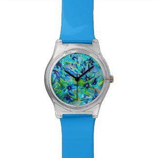 かわいらしい花の水彩画May28thの腕時計 リストウオッチ
