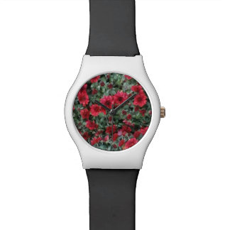 かわいらしい花の腕時計 腕時計