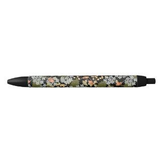 かわいらしい花の花のペン 黒ボールペン