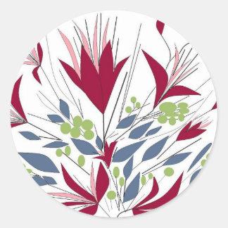かわいらしい花束 ラウンドシール