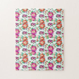 かわいらしい花模様の壁紙パターン ジグソーパズル