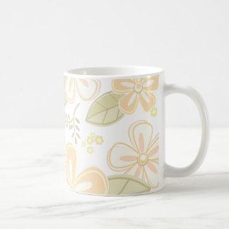 かわいらしい花模様 コーヒーマグカップ