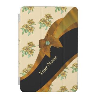 かわいらしい茶色のヴィンテージの花の花模様 iPad MINIカバー