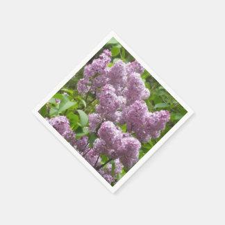 かわいらしい薄紫ブッシュ スタンダードカクテルナプキン