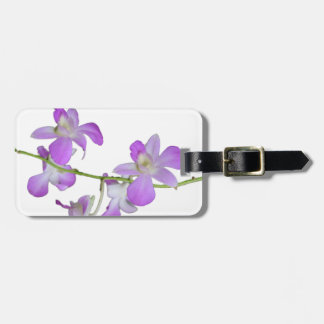 かわいらしい蘭のラベンダーの紫色 ラゲッジタグ