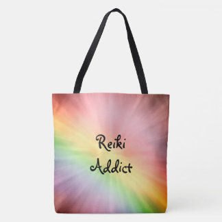 かわいらしい虹の霊気の常習者のデザイン トートバッグ