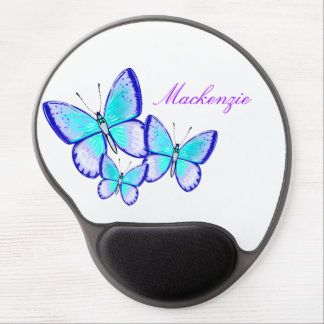 かわいらしい蝶トリオ ジェルマウスパッド