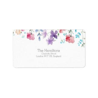 かわいらしい野生の花の素朴な結婚式の宛名ラベル ラベル