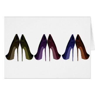 かわいらしい靴すべて続けて芸術 グリーティングカード