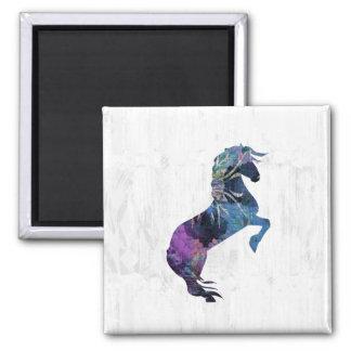 かわいらしい養育ファンタジーの馬の芸術 マグネット