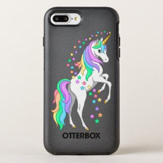 かわいらしい養育虹のユニコーンの落下星 オッターボックスシンメトリーiPhone 8 PLUS/7 PLUSケース