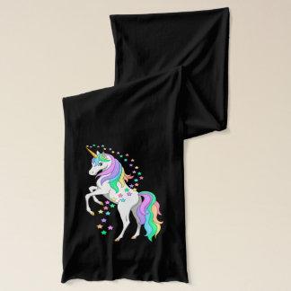 かわいらしい養育虹のユニコーンの落下星 スカーフ