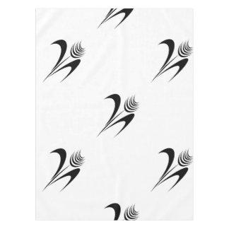 かわいらしい黒の抽象芸術の花柄パターン テーブルクロス