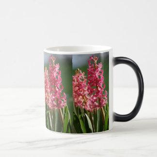 かわいらしい、ピンクのHyacinth モーフィングマグカップ