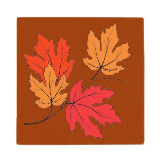 かわいらしい、木のコースターの紅葉 ウッドコースター
