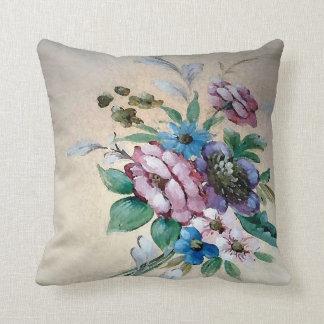 """かわいらしい""""花のの花束」正方形の枕 クッション"""
