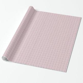 かわいらしいDuskyピンクの白いレースパターン ラッピングペーパー