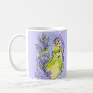 かわいらしいEdwardianのスタイルの水彩画 コーヒーマグカップ