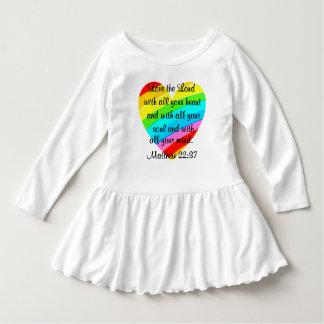 かわいらしいMATTHEWの22:37愛ハートのデザイン ドレス