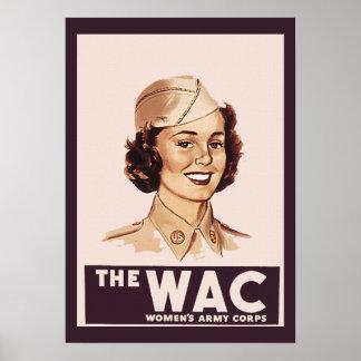 かわいらしいWWII WAC ポスター
