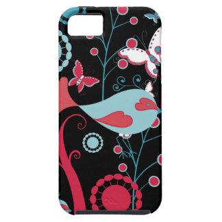 かわいらしくガーリーな春の鳥の蝶花のつる植物 iPhone SE/5/5s ケース